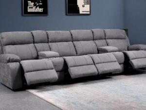 Novell Slim Faux Suede 4 Cinema Seats