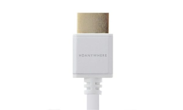 HDANYWHERE – 1m White SlimWire High Speed HDMI Cable